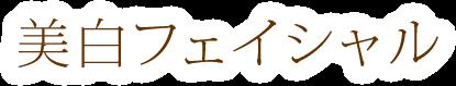 吹田市緑地公園駅アズ鍼灸整体・整骨院 吹田院併設アズ・ビューティの美白フェイシャル