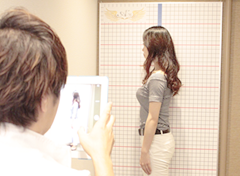 緑地公園アズ鍼灸整骨院の整体・姿勢改善骨格調整の姿勢分析写真