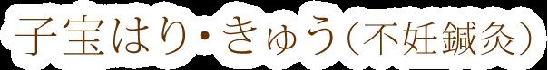 子宝はり・きゅう(不妊鍼灸)